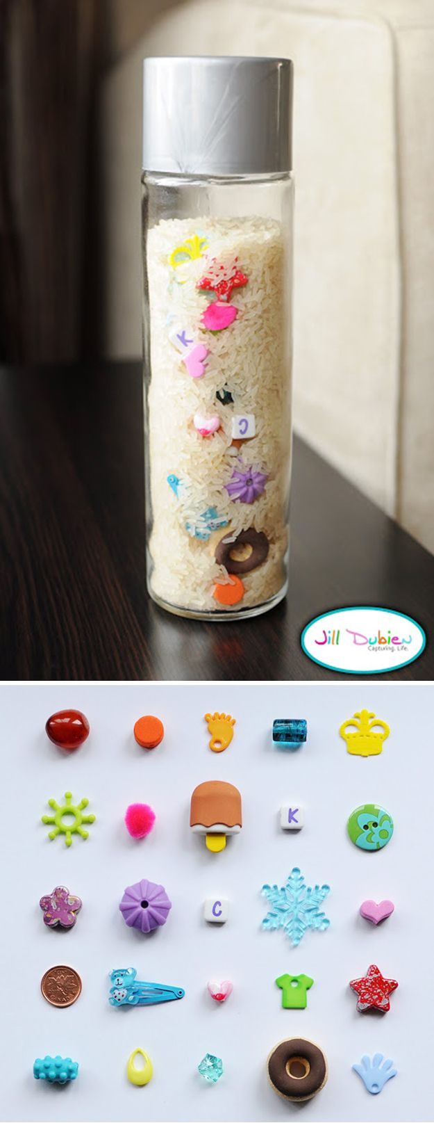 Easy I-Spy Bottle   Cool Homemade DIY Crafts for Kids by DIY Ready at  www.diyready.com/diy-kids-crafts-you-can-make-in-under-an-hour/