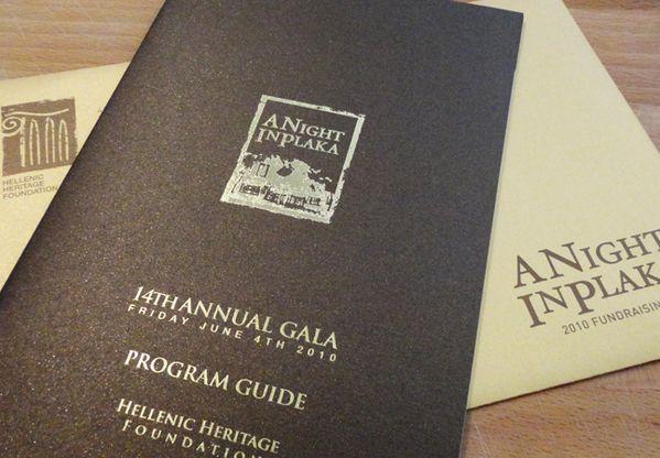 Hellenic Heritage Foundation Gala Program Guide by Kate Ripley, via Behance