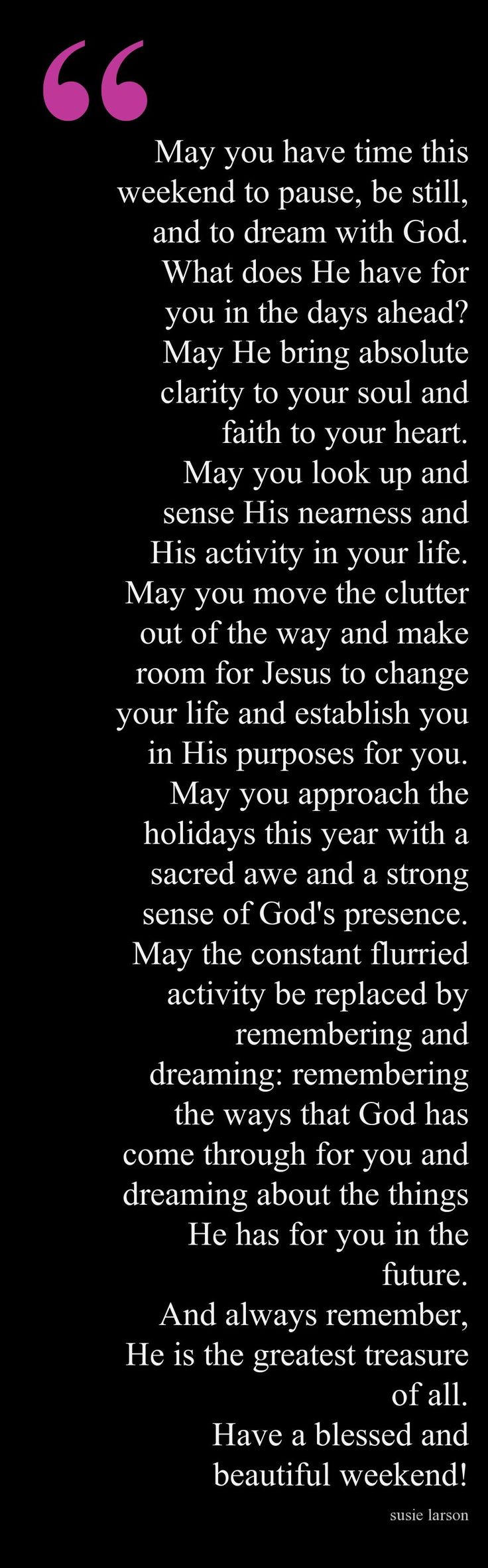 Prayer for Thanksgiving Weekend & the approaching Christmas Season
