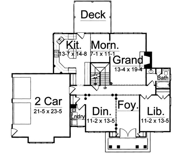 Awesome Craftsman House Plan 72035 Level One