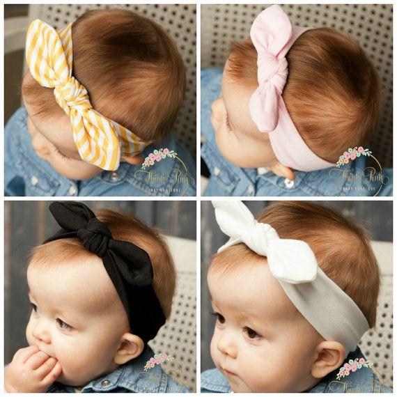 Baby Headbands, CHOOSE COLOR Girls Head wraps, Baby Head wraps, Jersey Knit Headwraps, Baby Headbands, Knott Headband,
