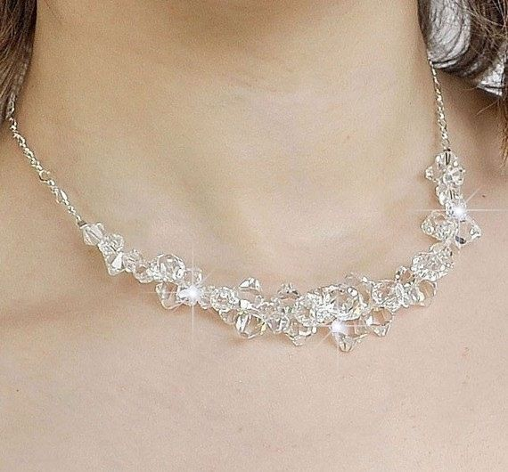 Statement Wedding Necklace Chunky Wedding by somethingjeweled, $89.00