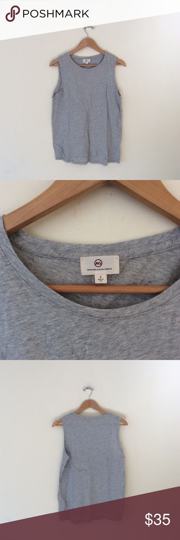 AG Adriano Goldschmied Gray Muscle Tank Top Small AG Adriano Goldschmied Gray Muscle Tank Top Small - Used AG Adriano Goldschmied Tops Tank Tops