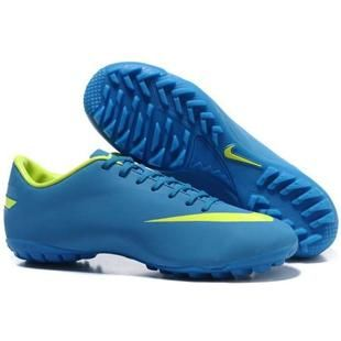 http://www.asneakers4u.com Nike Mercurial Vapor VIII TF Indoor Cyan and Volt  Nike Astro Turf Football Cleats