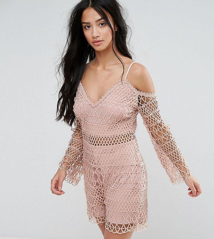 Parisian Petite Crochet Romper - Pink