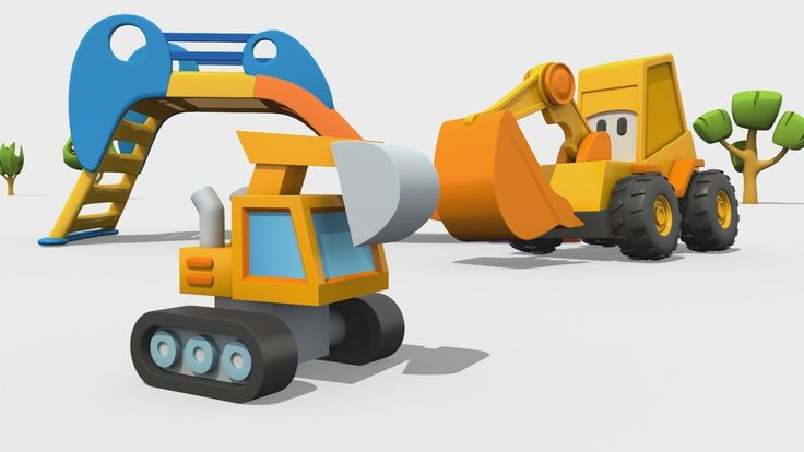 Cartoni Animati per Bambini - Max l'escavatore: come si fa una ruspa?