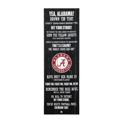 $29.99 University of Alabama Fight Song Canvas Plaque | Kirklands