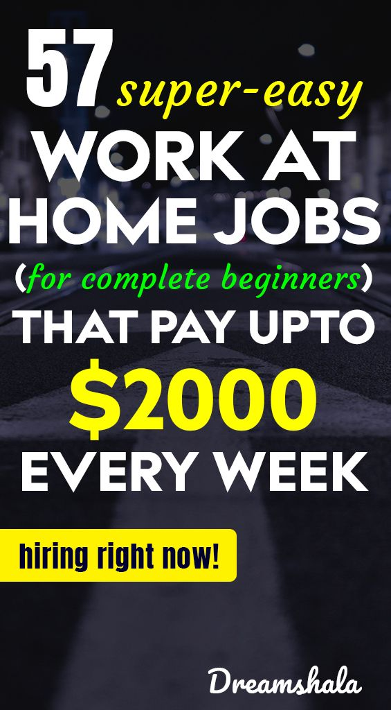 51 Legit Work From Home Companies That Pay Weekly Work From Home Jobs Legit Work From Home Work From Home Companies