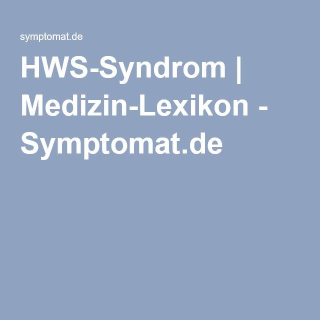 HWS-Syndrom | Medizin-Lexikon - Symptomat.de