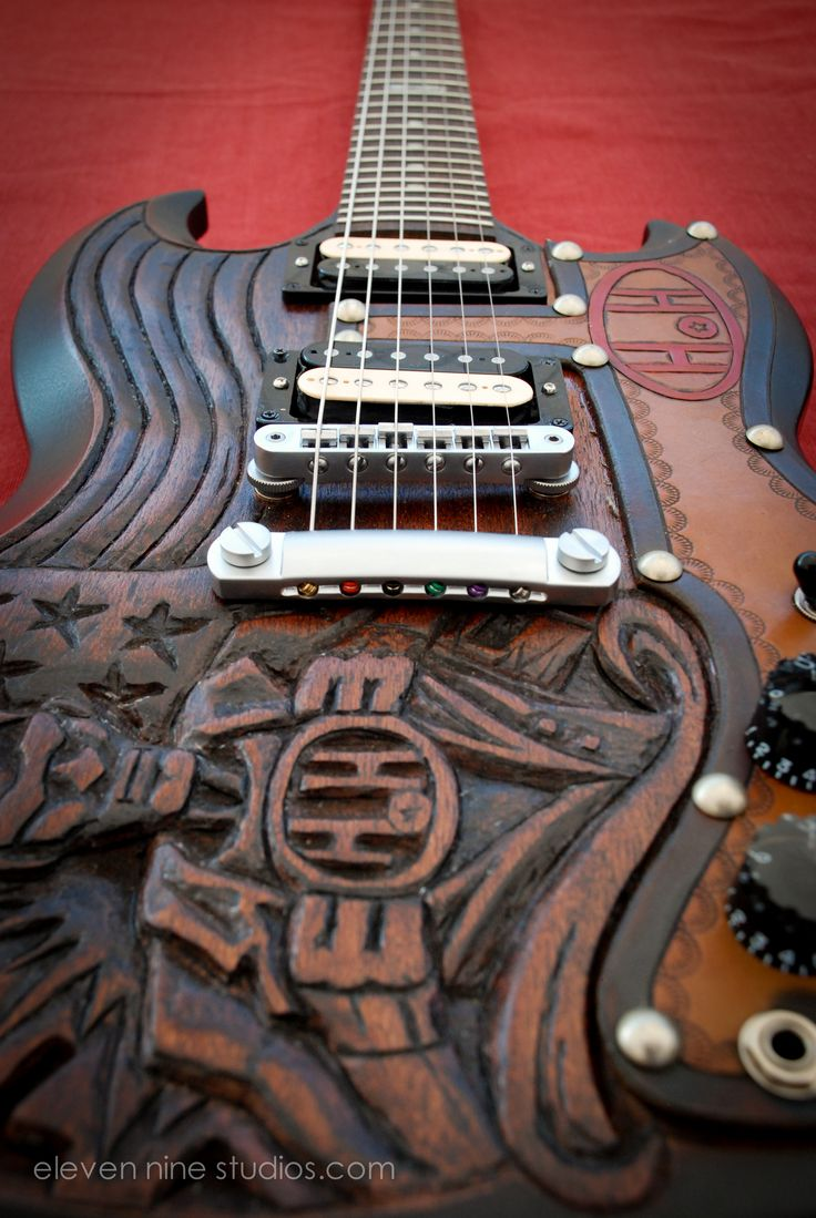 Here 39 s our custom guitar from a different angle big for A different angle salon