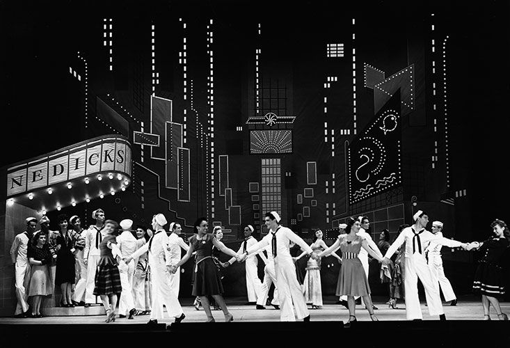 Image result for musical on the town opened in 1944