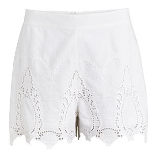Wide Lace Shorts White