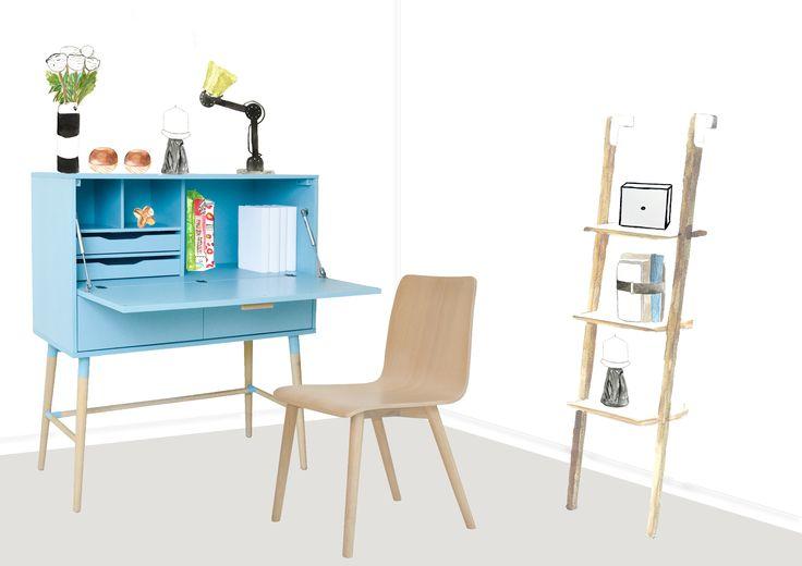 Beautiful illustrations by Homedrawn provide a sneak peak of furniture brand SKETCH