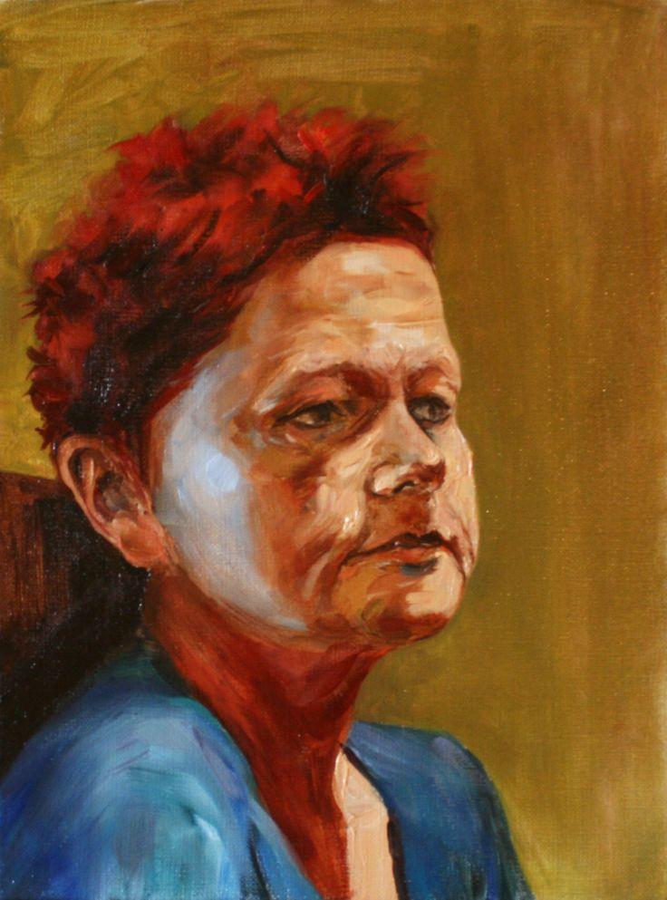 Mother Pofile Painting Cyprian Nocoń Nocon