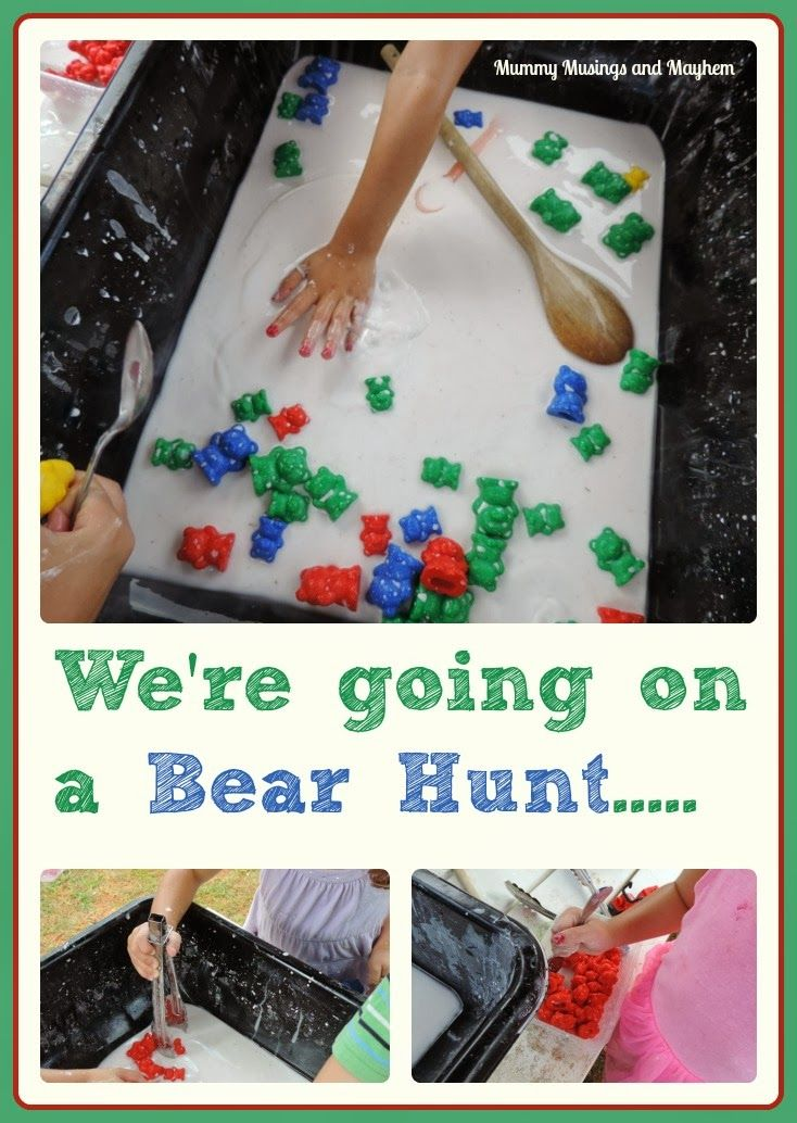 We Re Going On A Goopy Bear Hunt Fine Motor Sensory