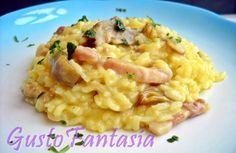 Risotto pancetta e carciofi Una squisita combinazione tra pancetta affumicata e carciofi per questo primo piatto a base di riso, pochi semplici ingredienti,