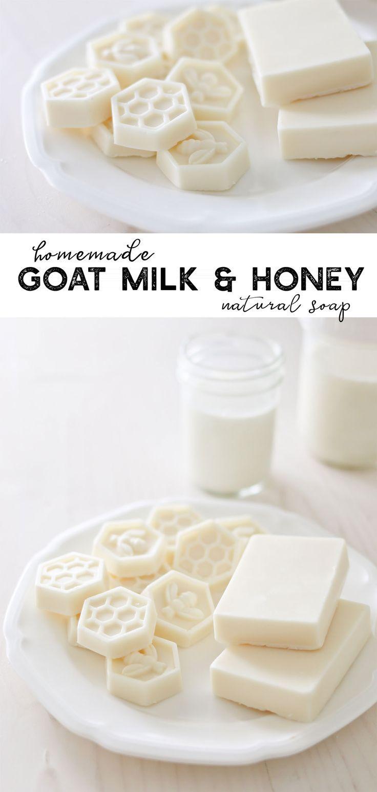 Ziegenmilch und Honig Seife – Schmelzen & Gießen Seife DIY – #Diy #Honig Seife #Meltpour # …   – Seife