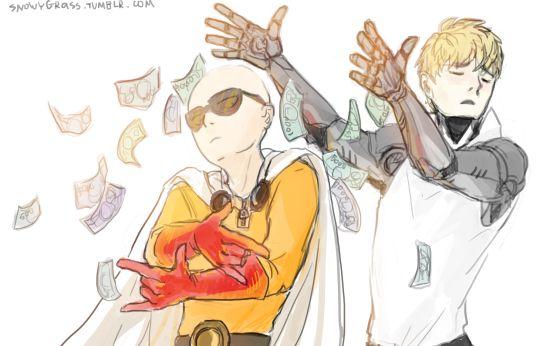 One Punch Man, Saitama and Genos