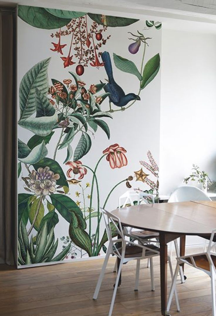 Would love something like this in diner wrapping into kitchen merging with plain colour for kids artwork etc – Axt