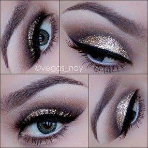 gorgeous silver eye makeup