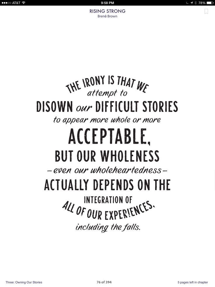 Reading Brene Brown's Rising Strong | Wonderful Words | Pinterest ...