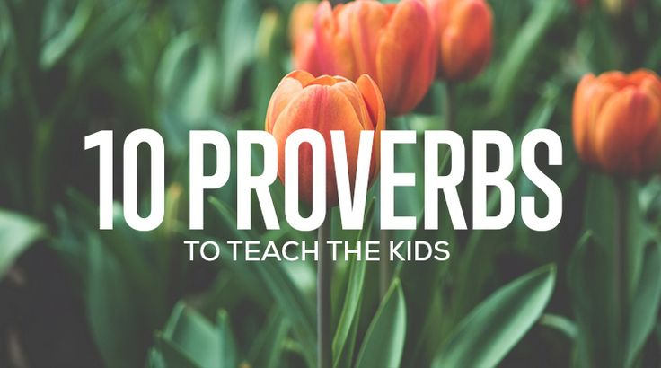 """Proverbs has a lot of great verses - some talking about subjects kids have no idea are talked about in God's Word. Here are 10 good """"kid"""" proverbs."""