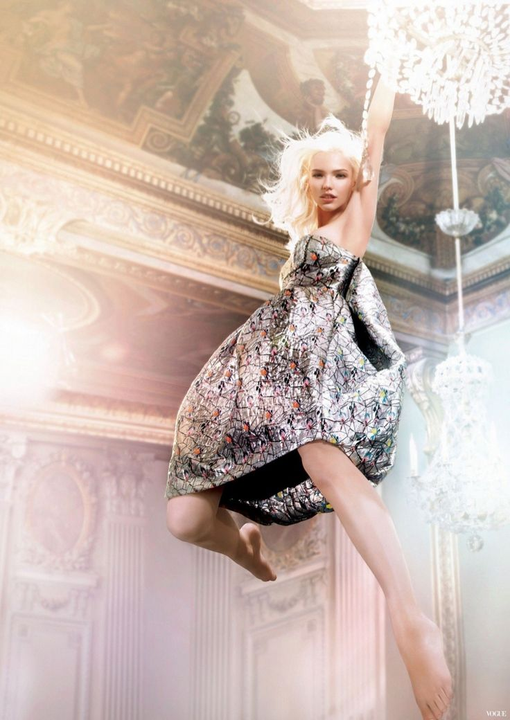 dior addict 2014 ryan mcginley1 Sasha Luss Swings on a Chandelier for New Dior Addict Campaign