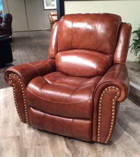Nailhead Leather Rocker Recliner Chair    $549.00    ADAM 9888