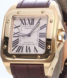 Gold Cartier Santos 100