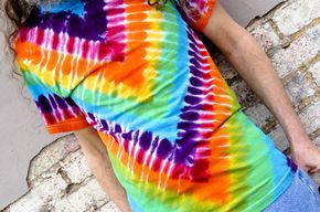 Many of the popular patterns in tie dye are started by folding the garment in halves, thirds, or quarters, either vertically, or horizontally, or both.  What happens when a garment or piece of fab…