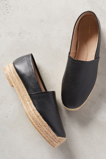 All Black Flatform Kid Espadrilles - anthropologie.com