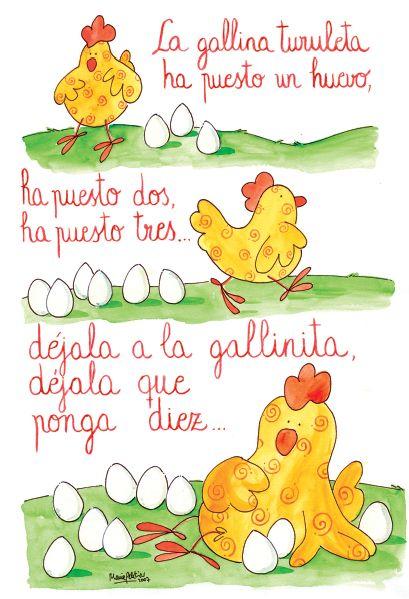 Títol: la gallina turileta Autor: anonim En aquesta imatge podem llegir la lletra de la canço: la gallina turuleta