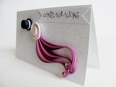 Wedding card...love the hair colour..hehehe