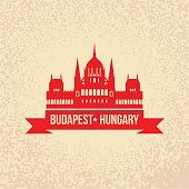 Hungarian Parliament Building. The symbol of Budapest, Hungary.