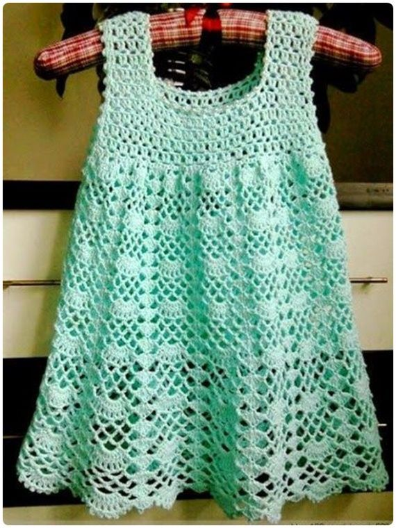 Crochet Beautiful Lace Dress Free Pattern - Crochet Girls Dress Free Patterns