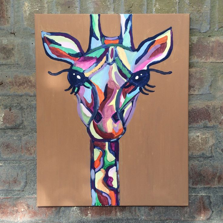 Abstract Giraffe painting - Etsy