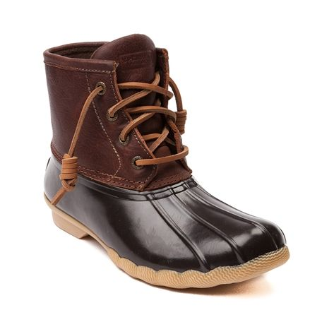Shop for Womens Sperry Top-Sider Saltwater Boot in Brown at Journeys Shoes. Shop today for the hottest brands in mens shoes and womens shoes at Journeys.com.Splash into style with the new Saltwater Duck Boot from Sperry Top-Sider! Youll be hoping for cool rainy days when youre rocking the Saltwater Boot that is completely waterproof featuring a quilted nylon upper with durable rubber sole, leather lacing with rustproof eyelets, and a warm fleece lining. Available for shipment in September…