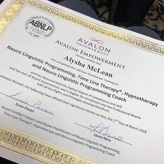 Excited to be incorporating NLP into my business.  You can never have enough education. I look forward to May when Ill take the Master Practitioner certification. AlyshaMcLean.com #alyshamclean #alyshamcleanteam #alysha #realestate #house #home #move #moving #listingagent #buyeragent #follow #instafollow #followforfollow #ifb #followtrain #like #instalike #likeforfollow #markham #markhamvillage #markhamrealestate #cornell #cornellrealestate #nlp #nlppractitioner #education