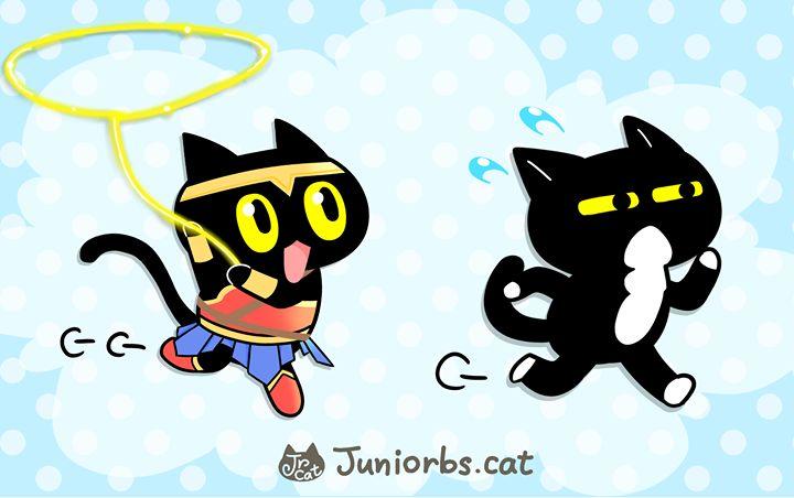 Wonder Cat !!!!!   ===============================================  學弟學妹LINE貼圖第二彈  中文版http://line.me/S/sticker/1448748 (黑貓兄弟 Part2) 日文版http://line.me/S/sticker/1447146 (黒猫兄弟 Part2) #端午 #補班 #下雨日 #黑貓 #黑白貓 #貓 #學妹 #cat #黒猫 #黒白猫 #猫 #แมว #고양이 #line原創貼圖 #sticker #ステッカー #wonderwoman #神力女超人 #神奇女俠 #ワンダーウーマン