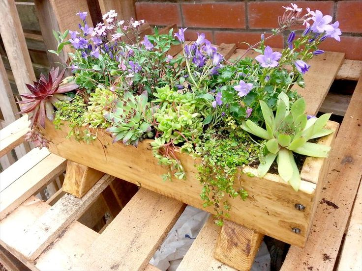 pallet wall planter box. easy planter box from pallets | 101 pallet ideas wall