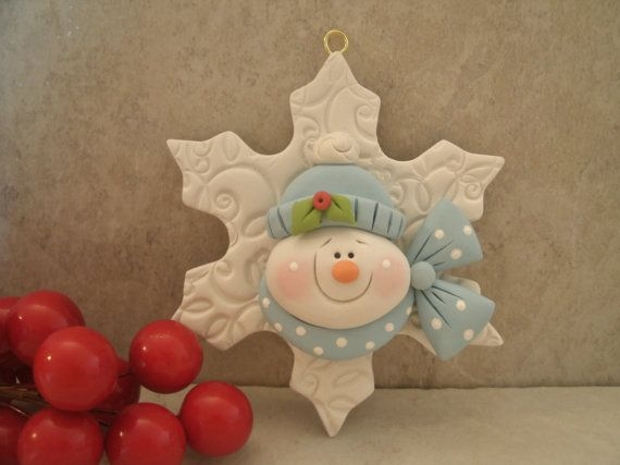 Hey, I found this really awesome Etsy listing at https://www.etsy.com/listing/185324361/snowman-and-snowflake-christmas-ornament