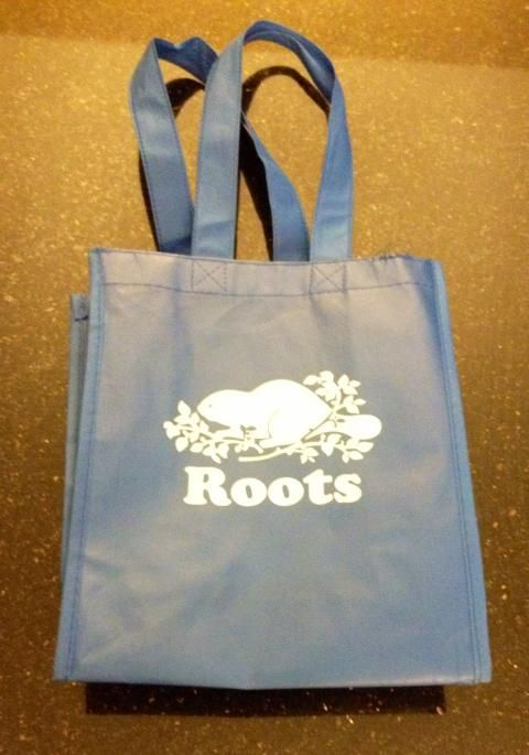 Bag from Roots clothing store