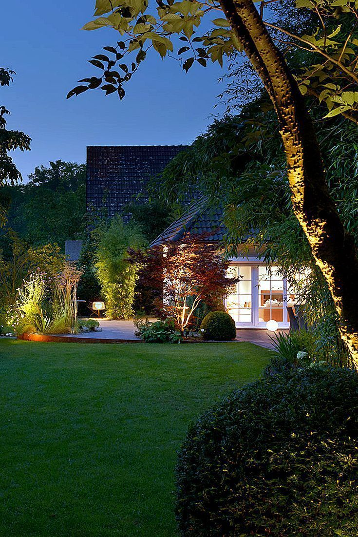 Indirect lighting in the garden in 2020 | Beleuchtung garten