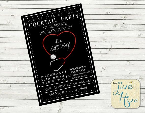 Hey, I found this really awesome Etsy listing at https://www.etsy.com/listing/195354266/medical-retirement-party-invitation