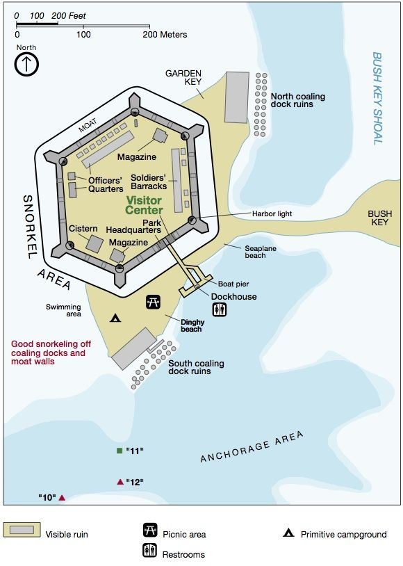 Click to find out the prime #camping site at Fort Jefferson and Dry Tortugas National Park. #travel