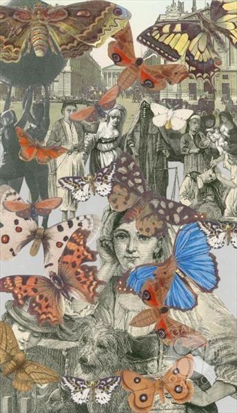 Paris-Butterflies II by Peter Blake