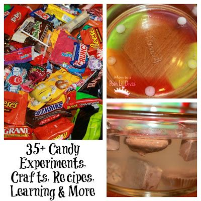 35+ Candy experiments, crafts, recipes, learning activities, play ideas & more! Use your leftover candy in a fun way!!!!