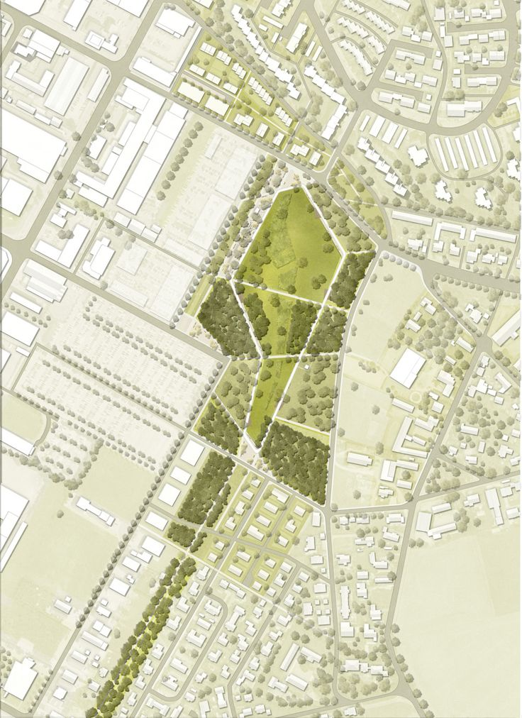 HOLZWARTH Landschaftsarchitektur (2014): Neubau eines Stadtparks, Neutraubling (DE), via competitionline.com