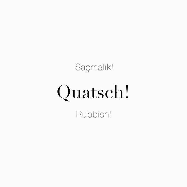 """63 Beğenme, 1 Yorum - Instagram'da Täglich ein Wort (@taglicheinwort): """"Saçmalık! • Quatsch! • Rubbish!"""""""