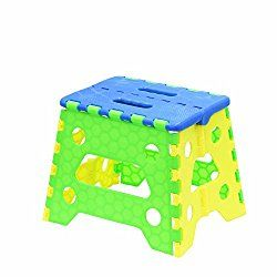 Folding Step Stool,Plastic Foldable Step Stool Load-Bearing 400 LB for Adults and Kids 9 inch